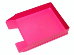 Odkladač na dokumenty plastový Herlitz - růžová neon