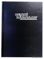 Diář denní záznamy A5, ZO 1012-01, OTK Hořovice - černá