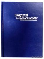 Diář denní záznamy A5, ZO 1012-02, OTK Hořovice - modrá