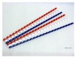 Kroužek 6 mm (pro vazbu do 30 listů) balení 100 ks - modrá