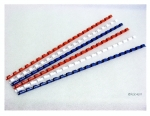 Kroužek 8 mm (pro vazbu do 70 listů) balení 100 ks - bílá