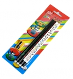 Tužka obyčejná grafitová EASY trojhranná HB s gumou - sada 4 ks + ořezávátko