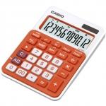 Kalkulačka CASIO MS-20NC, stolní barevná oranžová, TAX+