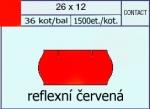 Etikety Contact 26 x 12 signální - červená