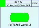 Etikety Contact 26 x 12 signální - zelená