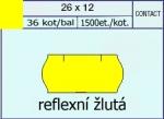 Etikety Contact 26 x 12 signální - žlutá
