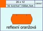 Etikety Contact 26 x 12 signální - oranžová