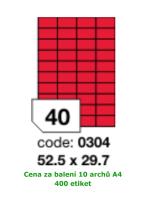 Etikety samolepicí RAY A4 52,5 x 29,7 červené, balení 10 archů