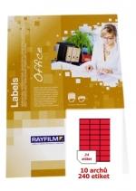 Etikety samolepicí RAY A4 70 x 36  červené, balení 10 archů