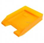 Odkladač na dokumenty plastový Herlitz - oranžový transparentní 10074128